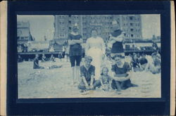 Family at the Seashore Postcard