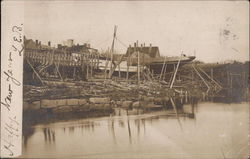 Beached Boat at Shore Postcard