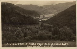 A view from Florida Mountain looking East Postcard