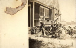 Woman With Early Ventnor City Police Motorcycle