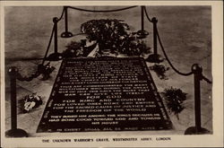 The Unknown Warrior's Grave, Westminster Abbey Postcard