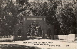 East Entrance to Eben Ezer Home for Aged