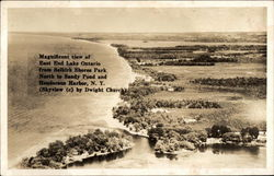 View of East End Lake Ontario, Selkirk Shores Park Postcard