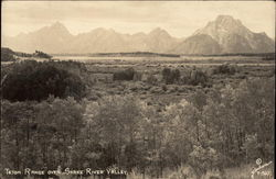 Teton Range over Snake River Valley