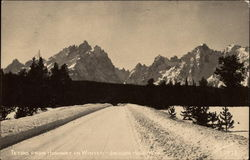 The Tetons from the Highway in Winter