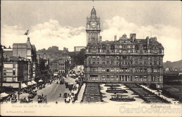 Princes Street and N.B. Hotel Edinburgh Scotland