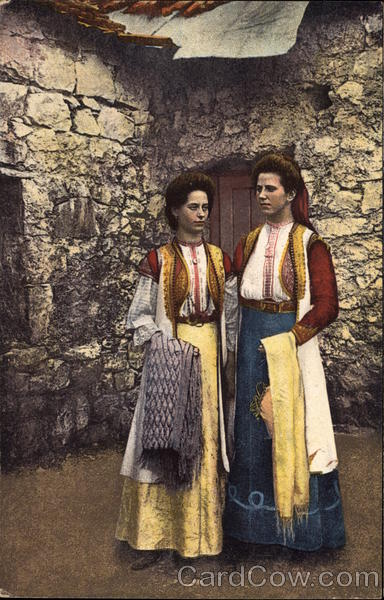 Ladies Model the National Dress of Montenegro