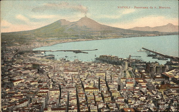 Panoramic View of Naples from San Martino Italy