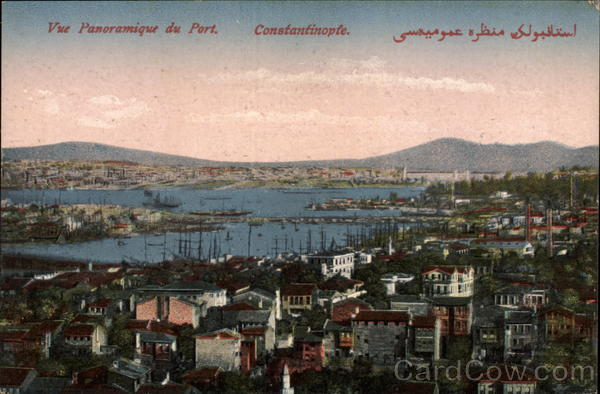 Panoramic View of Port Istanbul Turkey Greece, Turkey, Balkan States