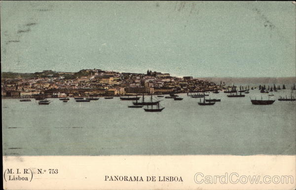 Panoramic View of Lisbon From the Harbor Portugal Spain, Portugal