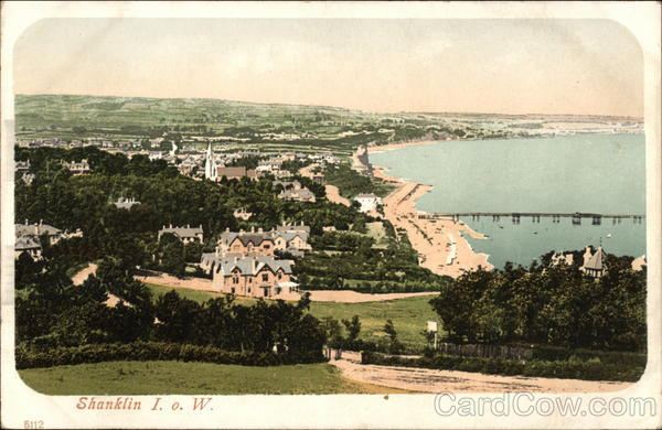 View over Town and Bay - Isle of Wight Shanklin England