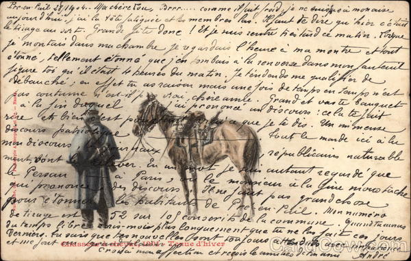 French Soldier & Horse Military