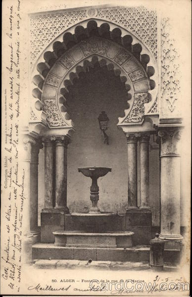 Fountain on the Rue de la Marine in Algiers Algeria