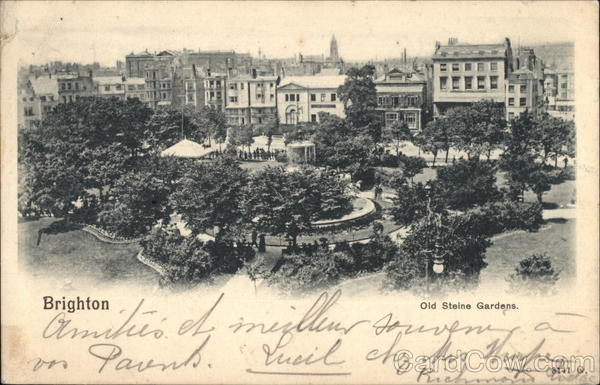 Old Steine Gardens Brighton England Sussex