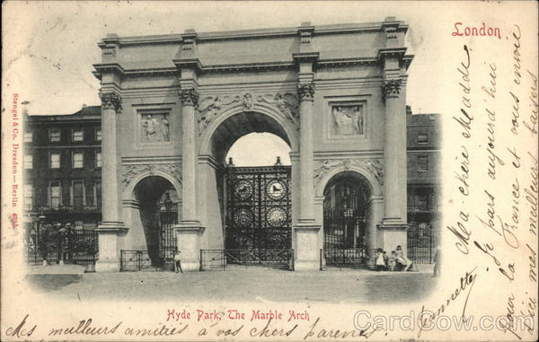 Hyde Park and The Marble Arch London England