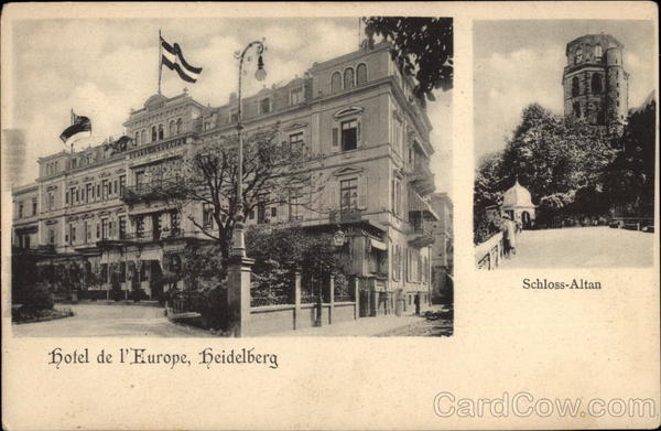 Hotel de l'Europe and Schloss-Altan Heidelberg Germany