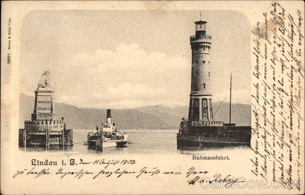 The Harbor Entrance at Lindau Germany