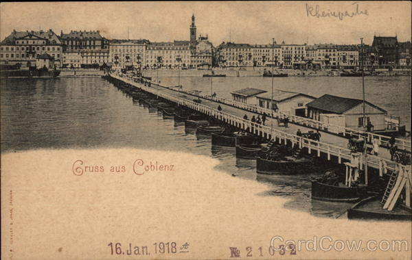Greetings from Coblenz on the Rhine Koblenz Germany