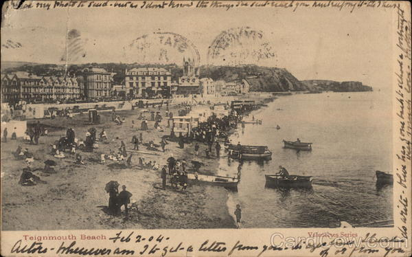 Teignmouth Beach, with Seaside Activities United Kingdom