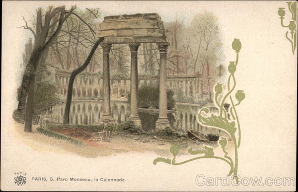 Parc Monceau, la Colonnade Paris France
