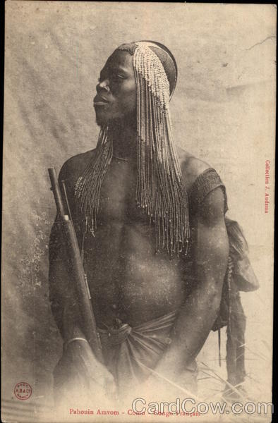 Pahouin Tribesman in French Congo Gabon Africa