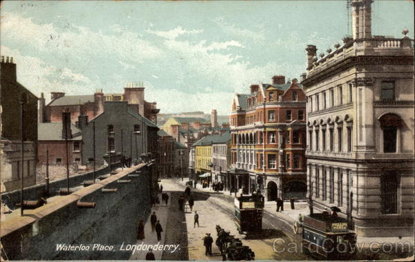 Waterloo Place in Downtown Londonderry United Kingdom