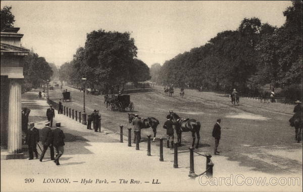 The Row at Hyde Park in London United Kingdom