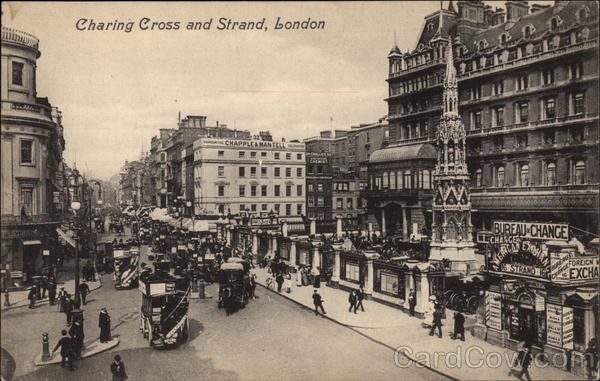 Charing Cross and Strand in London United Kingdom