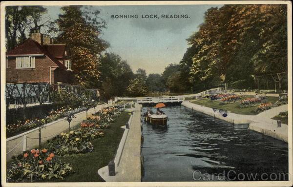 Sonning Lock Reading England Berkshire
