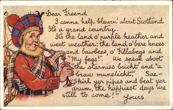 Message from Scotland