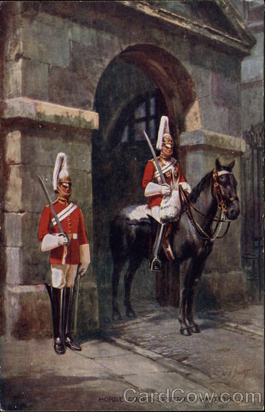 Horse Guard Sentries in Whitehall, London United Kingdom