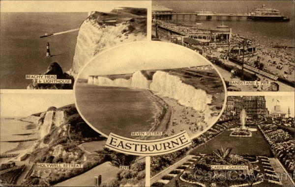 Various Views of Town Eastbourne England Sussex
