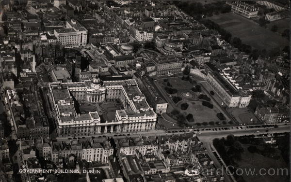 Aerial View of Government Buildings Dublin Ireland