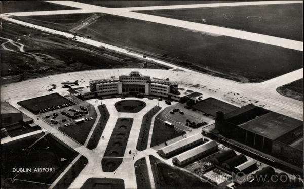 Aerial View of Dublin Airport Ireland Airports