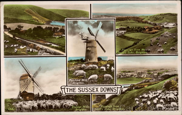 Various Views of the Sussex Downs Brighton England