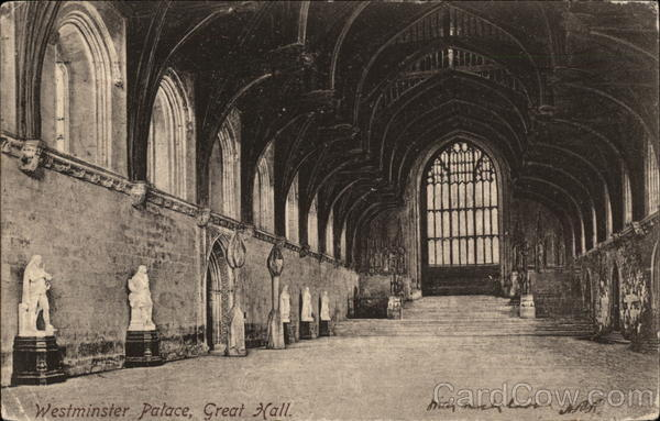 Westminster Palace, Great Hall London England