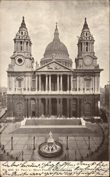 St. Paul's Cathedral - West Front London England