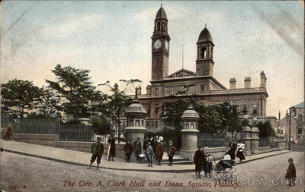 The Geo. A. Clark Hall and Dunn Square Paisley Scotland