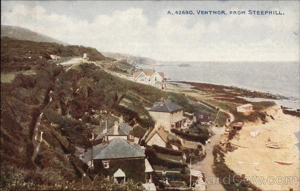 View of Village from Steephill Ventnor City England