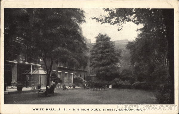 White Hall, 2, 3, 4, & 5 Montague Street London England