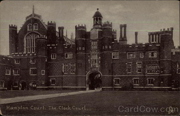 Hampton Court and the Clock Court London United Kingdom