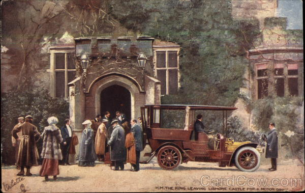 H.M. The King Leaving Lismore Castle for a Motor Drive Ireland