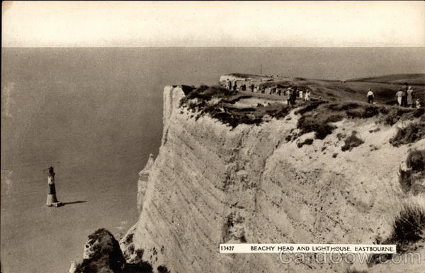 Beachy Head and Lighthouse in Eastbourne United Kingdom
