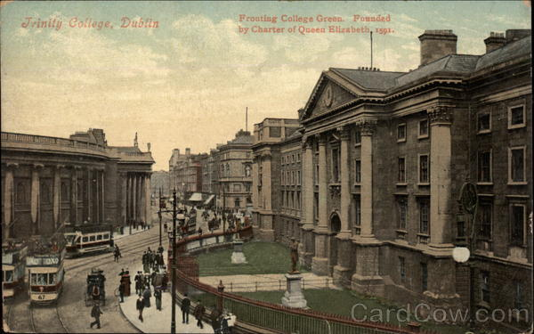 Fronting College Green, Trinity College, Dublin Ireland