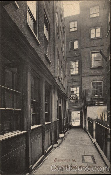 Entrance to Ye Olde Cheshire Cheese London England