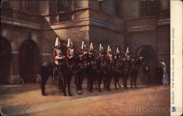 Changing of the Horse Guards in London United Kingdom