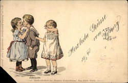 Cordial Greetings from Ygnaz, With Three Children