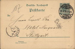 Example of a Post Card with no image