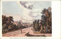 View of Rugby School from the Northampton Road, 1816