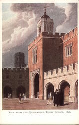 VIew from The Quadrangle, Rugby School, 1816